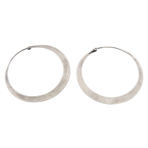 Large Silver Hoops