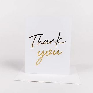 Wrinkle & Crease Paper Products - Thank You Greeting Card