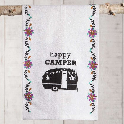 Flour Sack Towel Happy Camper