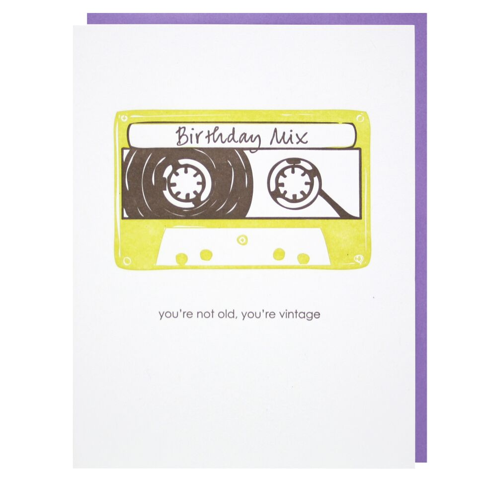 Smudge Ink - Nostalgic Birthday Card