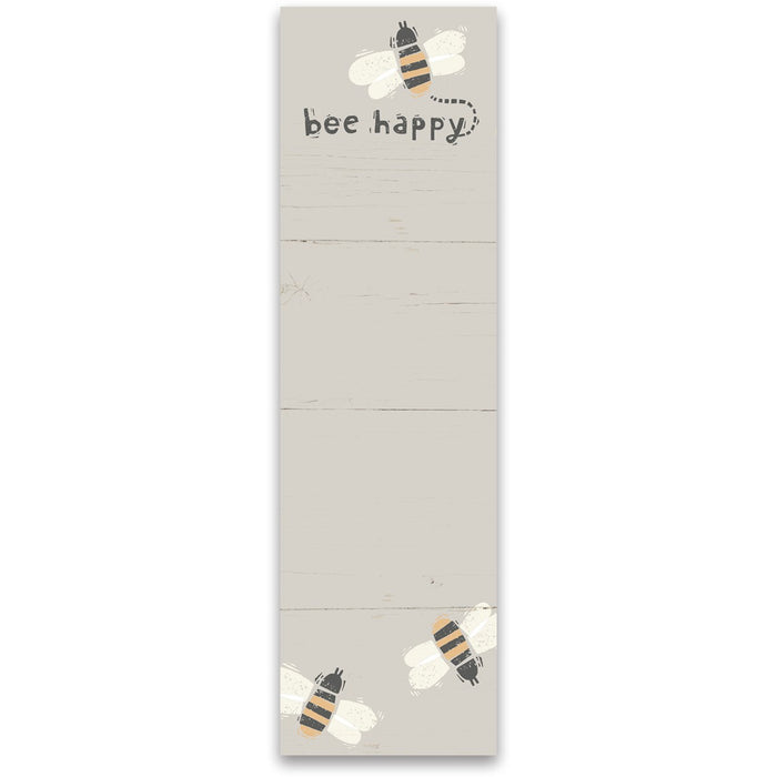 List  Notepad - Bee Happy