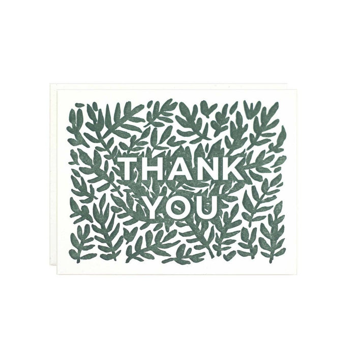 Thanks Leaves Card