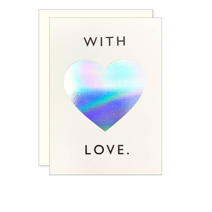 Iridescent Heart Card