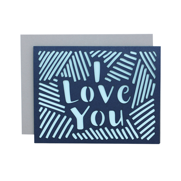Alexis Mattox Design - Love Lines Laser Cut Card