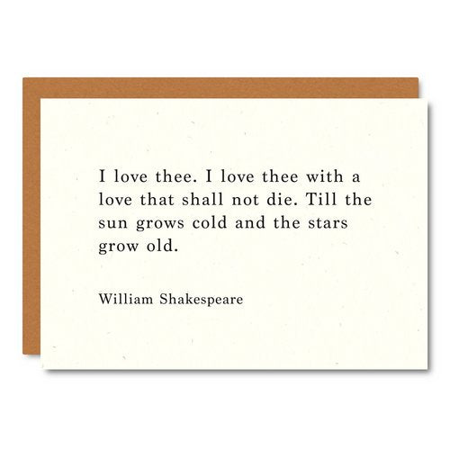 Shakespeare (Love you) Card
