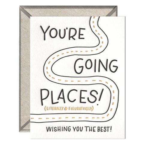 INK MEETS PAPER - Going Places - greeting card