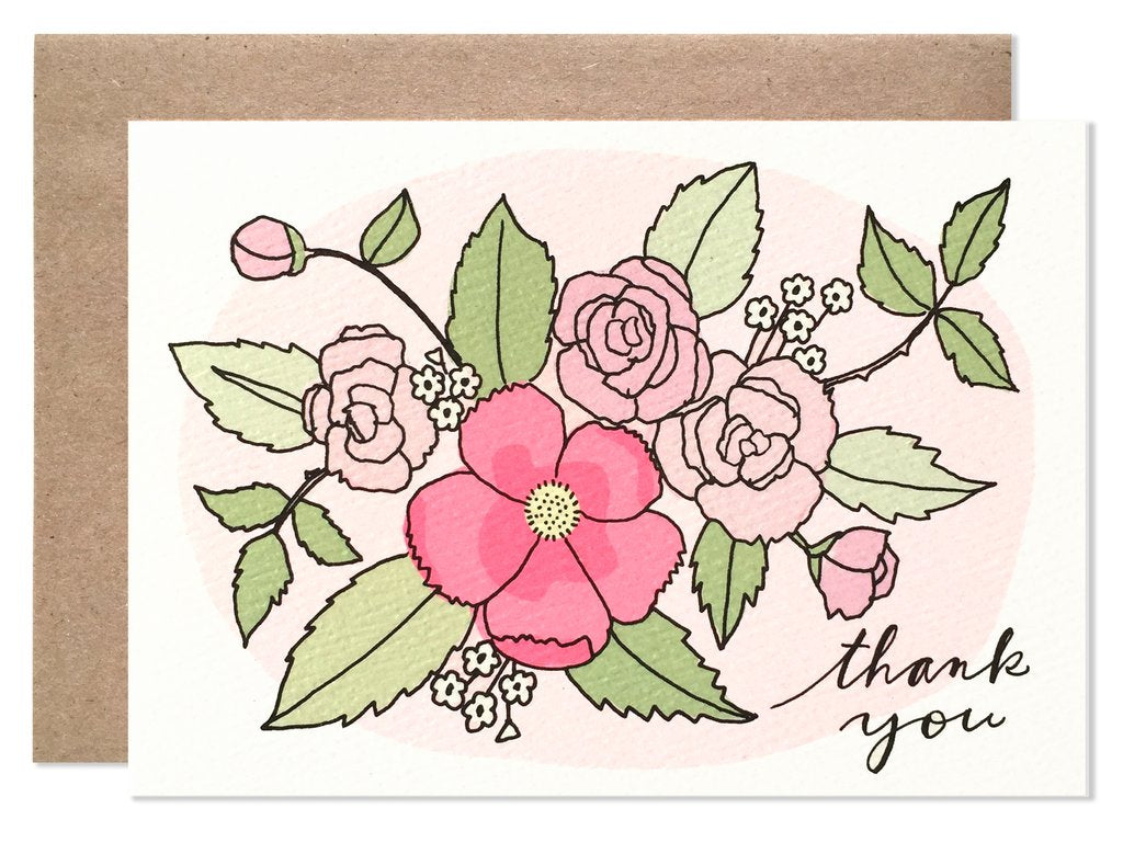 Hartland Brooklyn - Thank You Bouquet Card Set Of 6