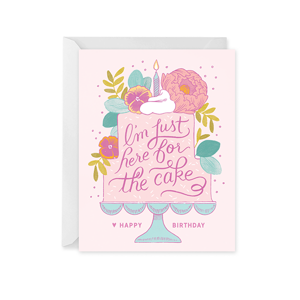 Here For The Cake Birthday Card