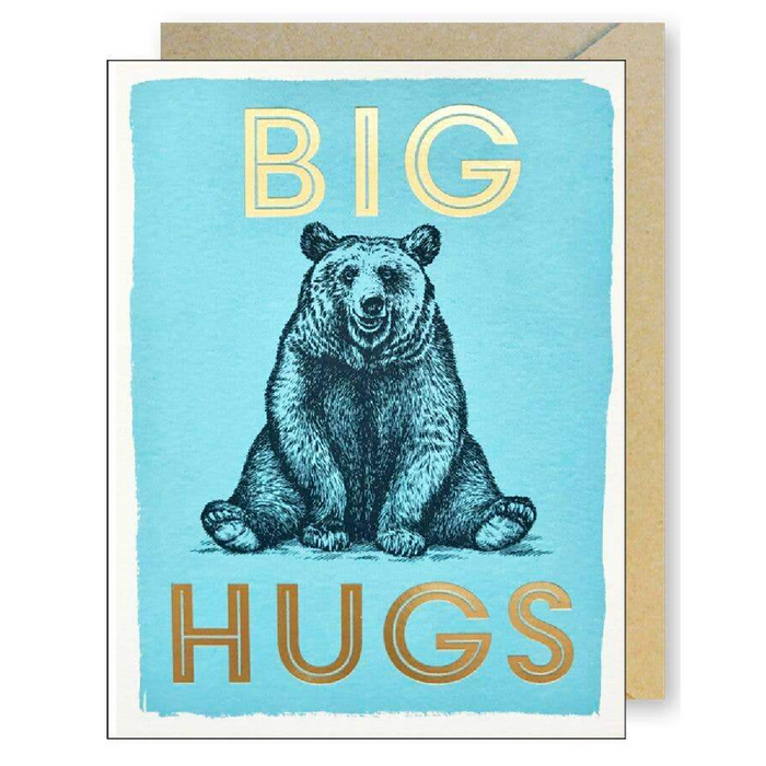 Gold Foil Big Hugs Bear