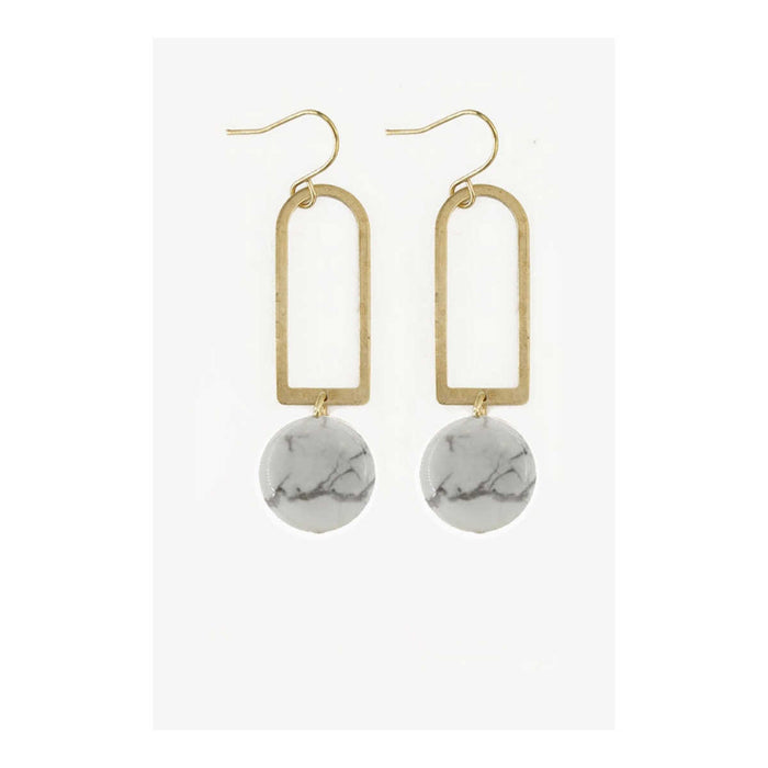 Howlite Arches Dangle Earrings