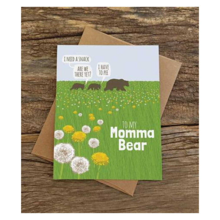 Momma Bear Dandelions Card