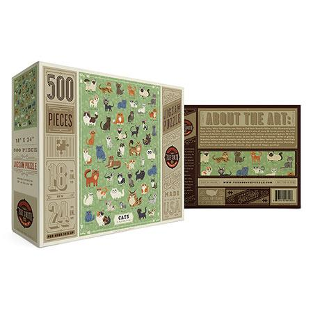 Illustrated Cats 500 Piece Puzzle
