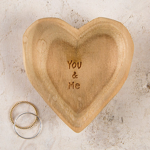 You & Me Wood Heart
