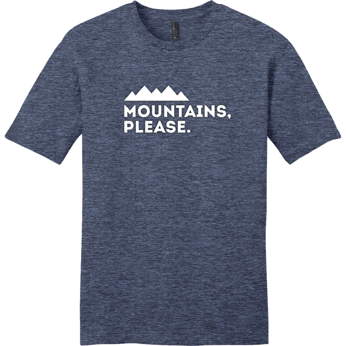 Mountains Please Mens Tshirt - Large