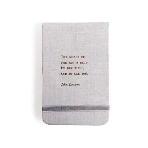 Fabric Notebook - John Lennon