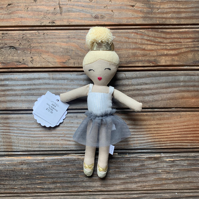 Grey Ballerina Rattle