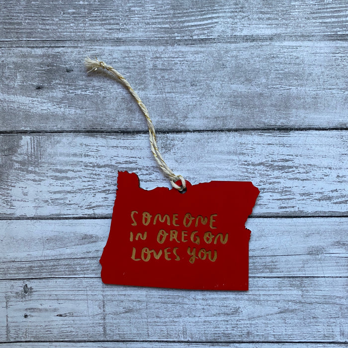 Someone in Oregon Loves You Ornament, Large