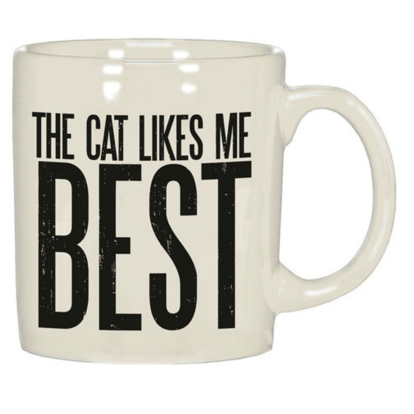 The Cat Likes Me Best Mug - Pulp & Circumstance