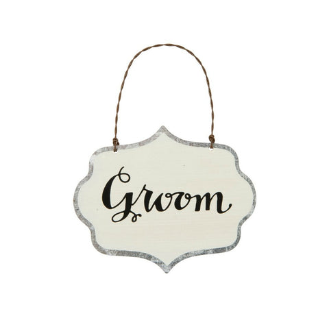 Groom Tin Ornament