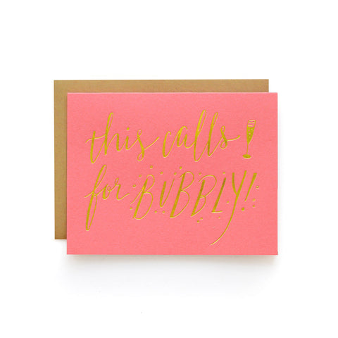Wild Ink Press - Calls For Bubbly | Happy Cards
