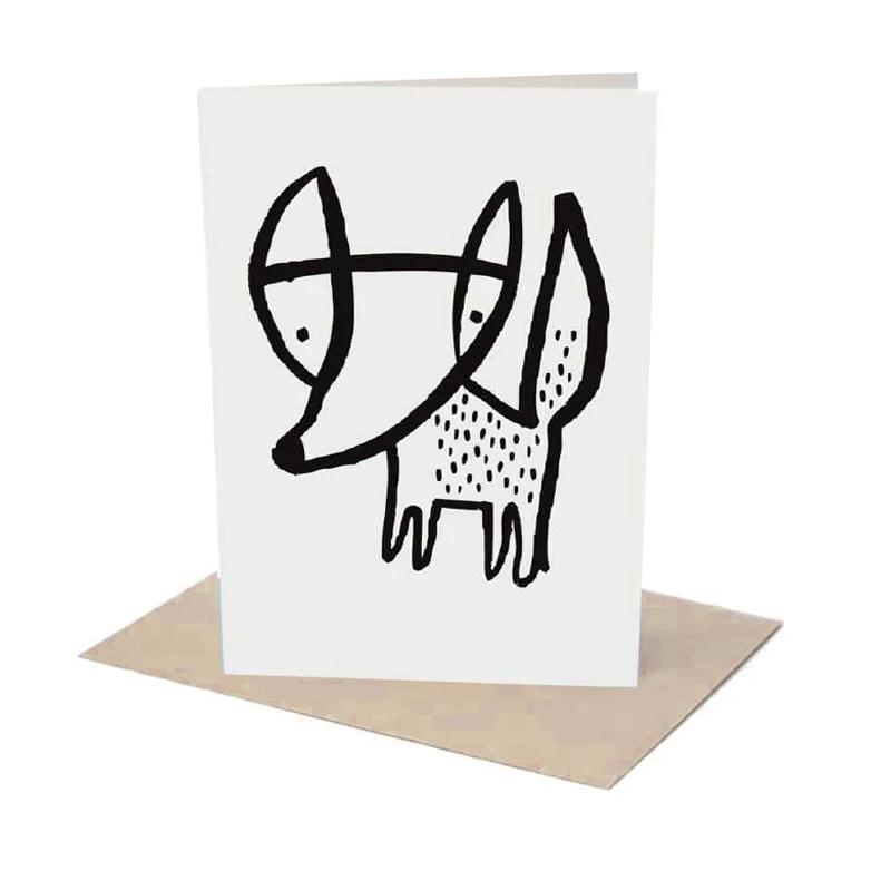 Wee Gallery - Fox Greeting Card