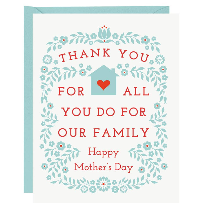 Thank You for All You - Mother's Day Card