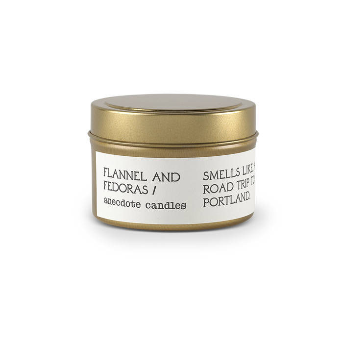 Flannel & Fedoras Travel Tin Candle