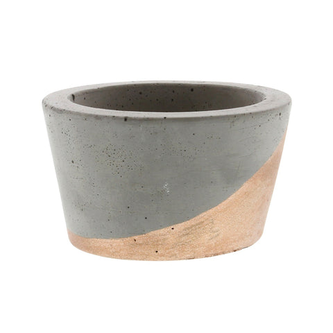 Cement Copper Tealight Holder