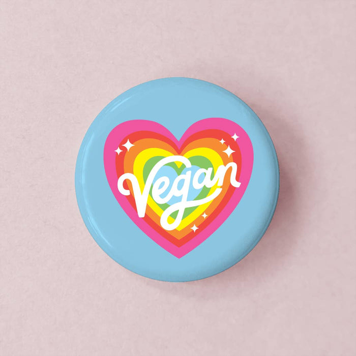 Vegan Rainbow Button