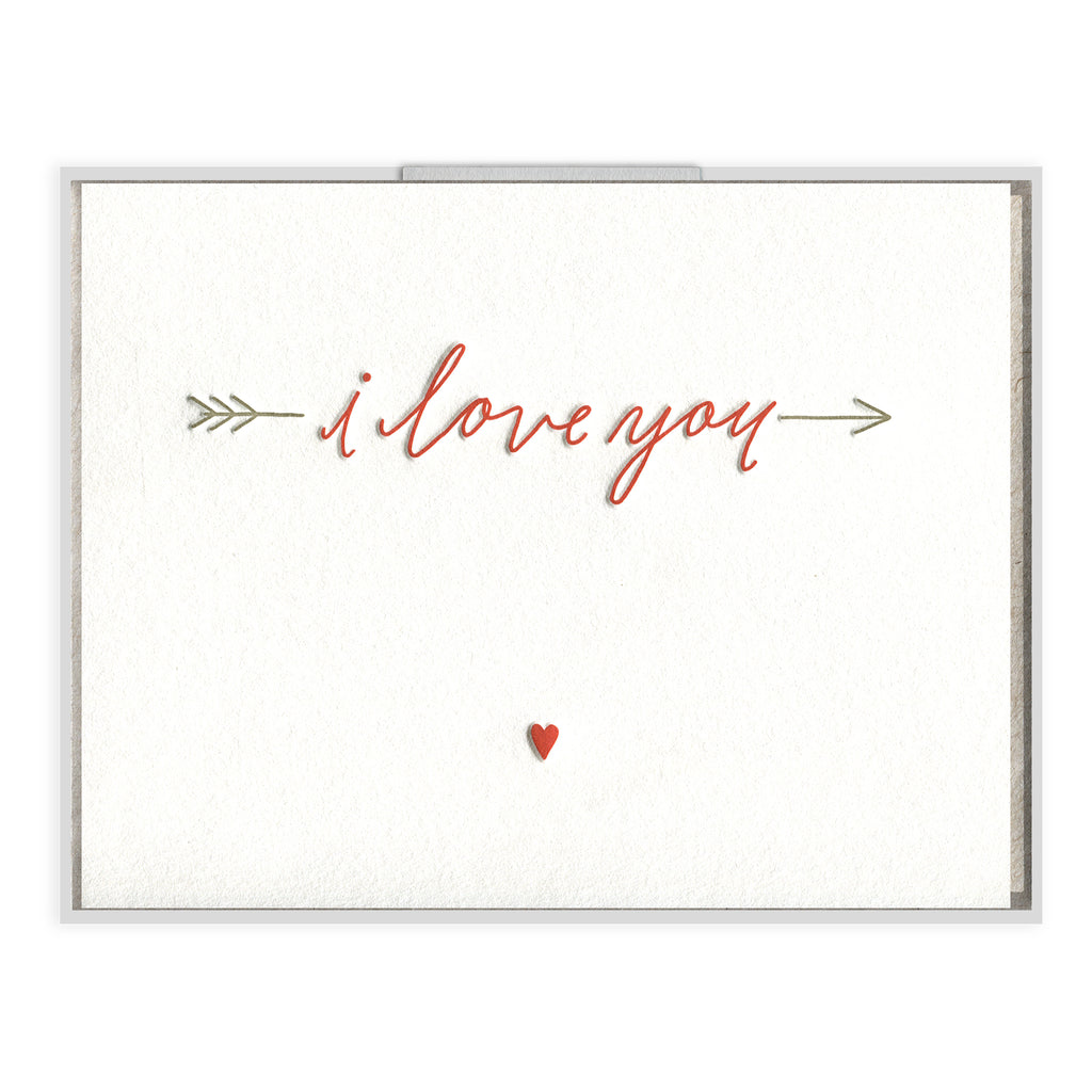 INK MEETS PAPER - Love You Arrow - greeting card