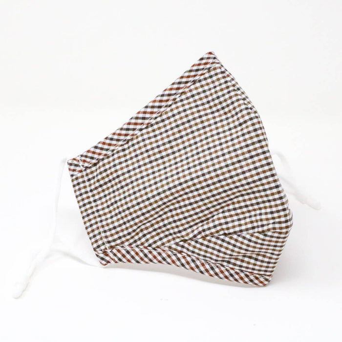 Black & Brown Gingham | Reusable Cotton Face Mask (THICK)