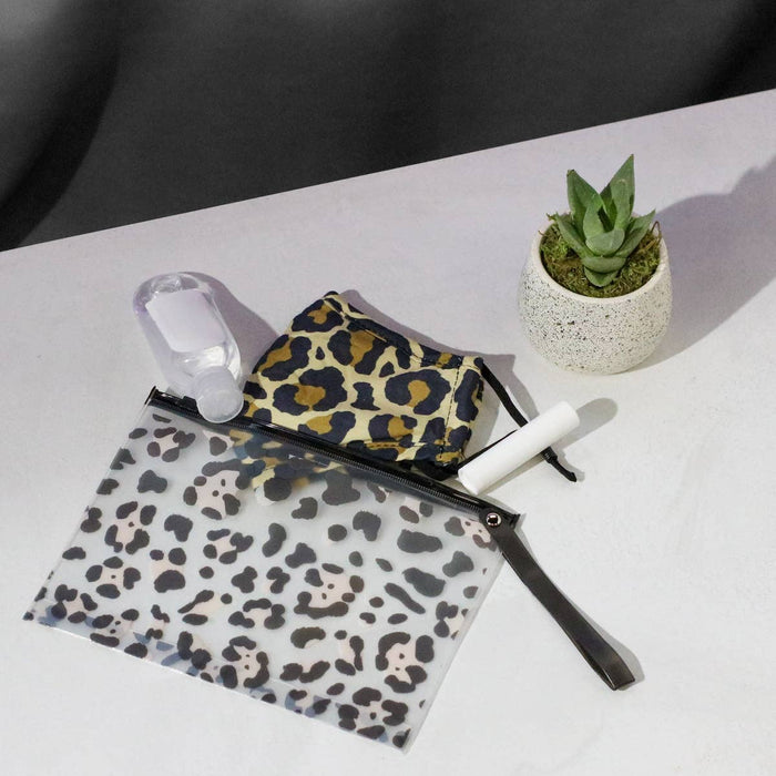 Face Mask Storage Bag Leopard