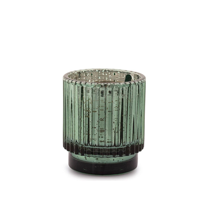 Cypress & Fir Green Mercury Glass Candle