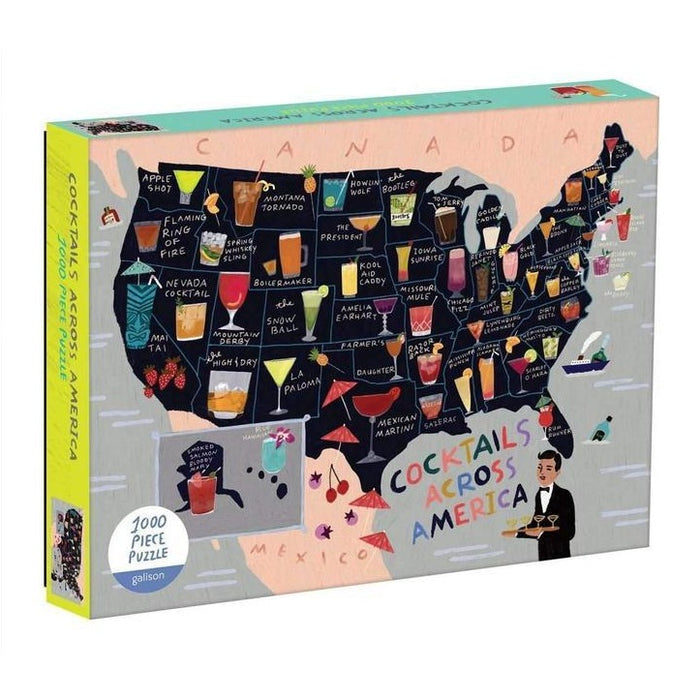 Cocktails Across America Map Puzzle