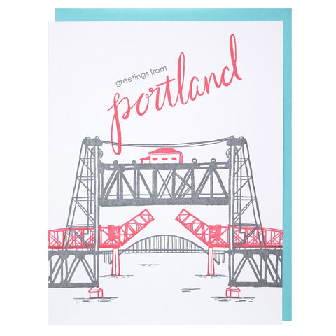Smudge Ink - City Greeting Card - Single