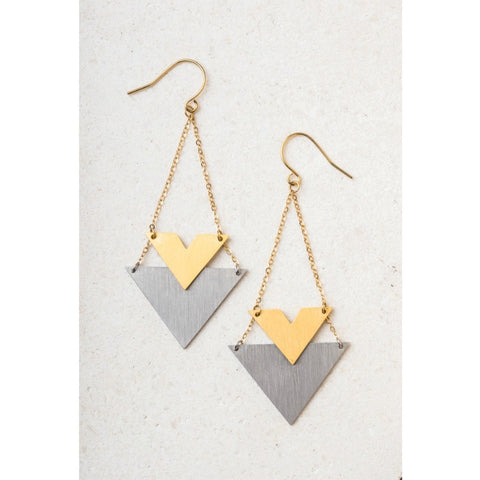 Wynne Stainless Steel Gold Earrings - Pulp & Circumstance