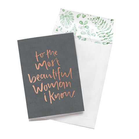 Emma Kate Co. - Most Beautiful Woman Greeting Card