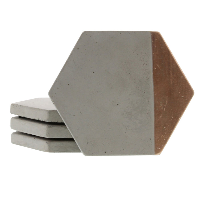 Cement Copper Coaster Set