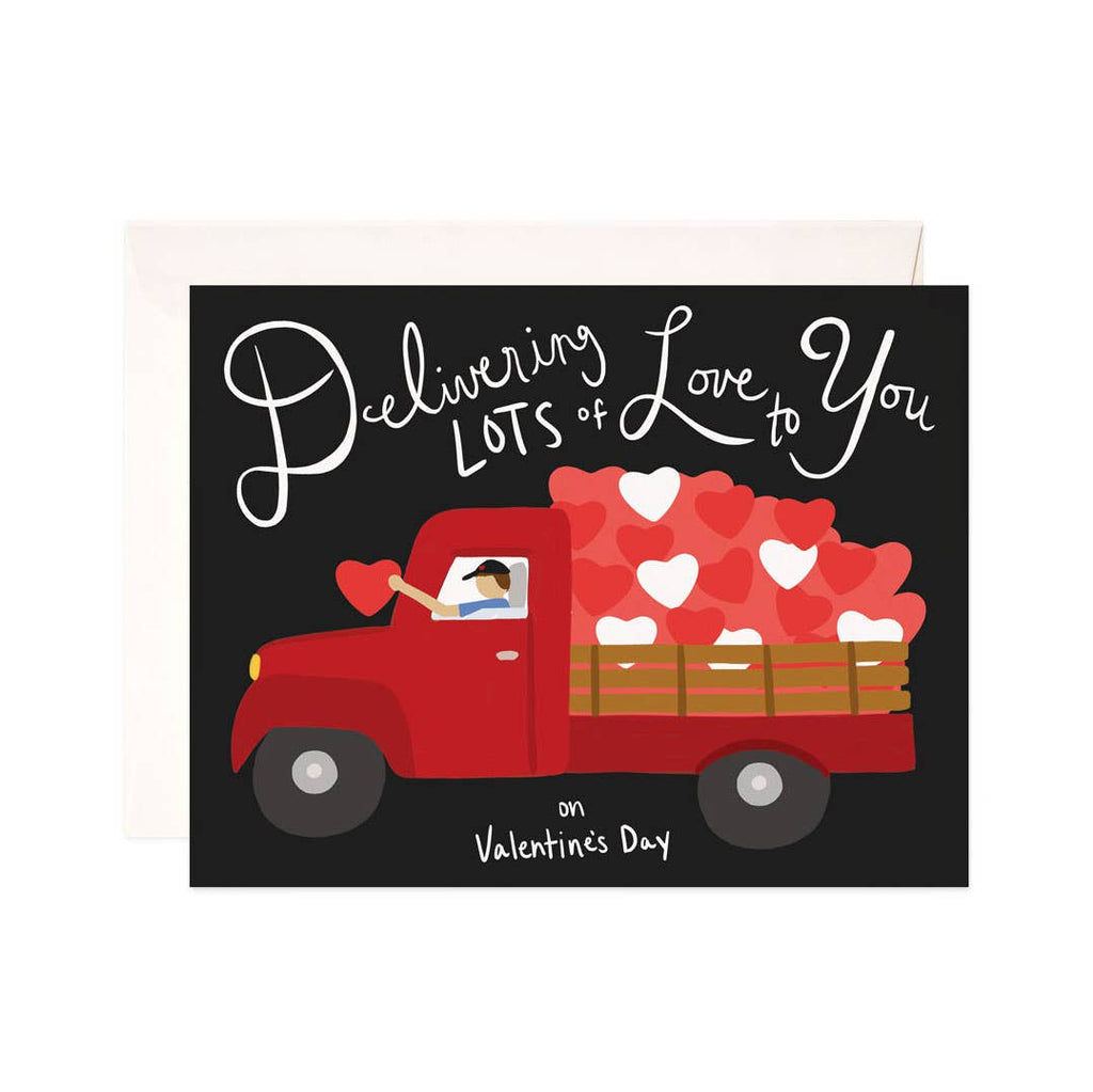 Delivering Love Valentine Greeting Card