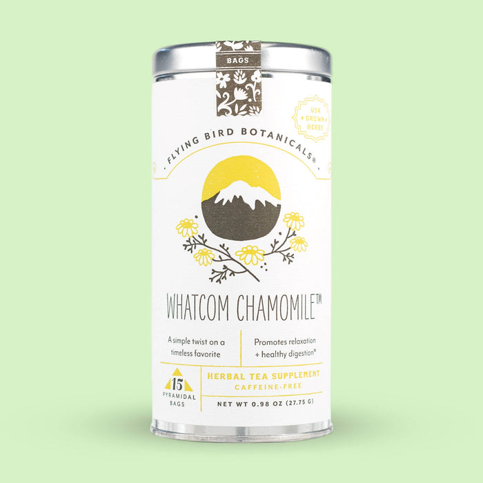 Whatcom Chamomile – 15 Tea Bag Tin