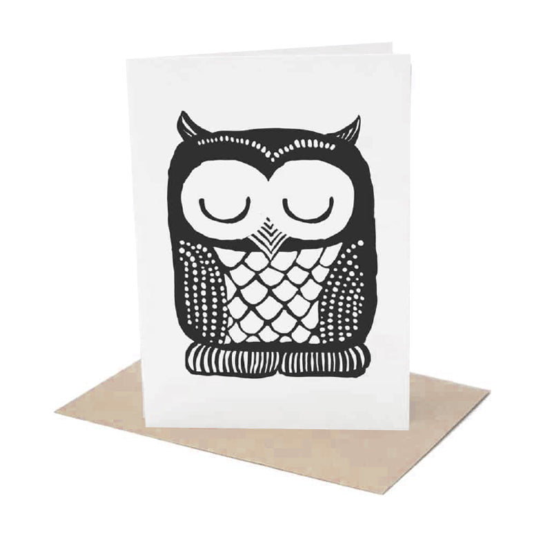 Wee Gallery - Owl Greeting Card
