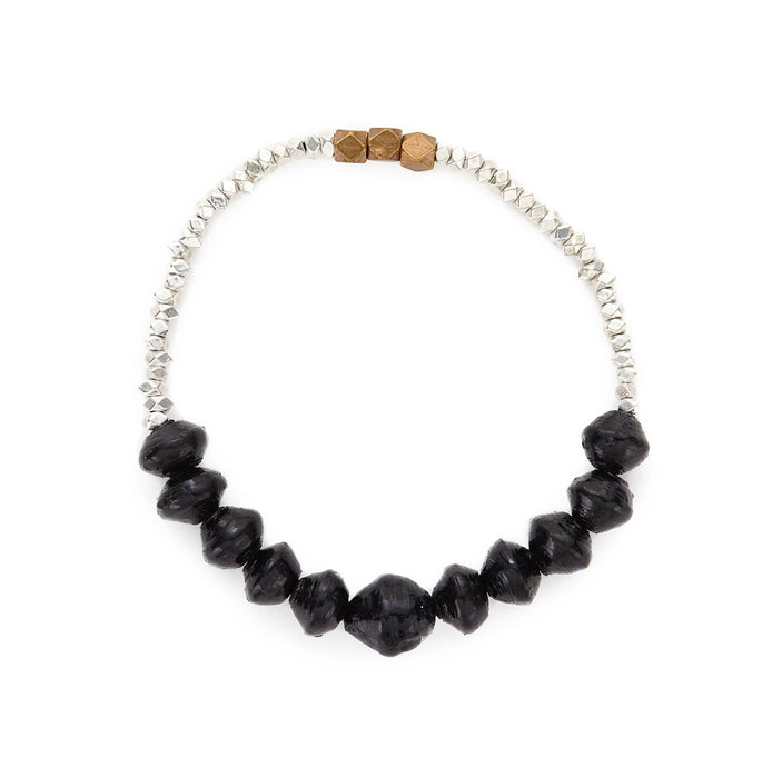Nairobi Nights Stretch Bracelet - Midnight Blue