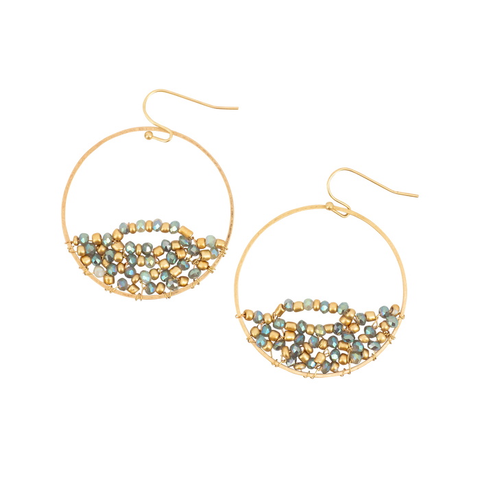 Gold Hoop With Twist Earrings
