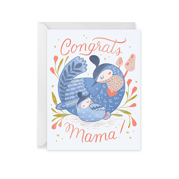 New Mama Bird Card