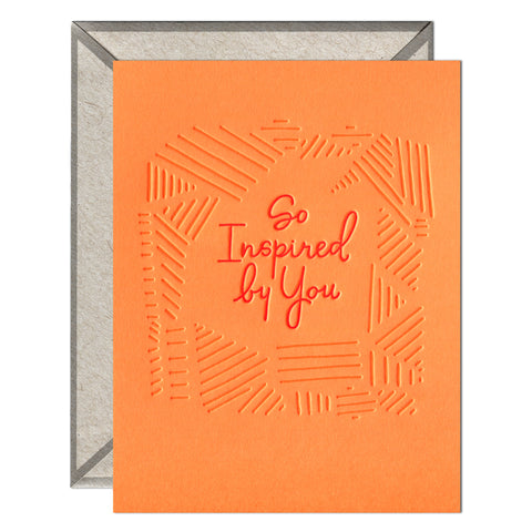 So Inspired - greeting card