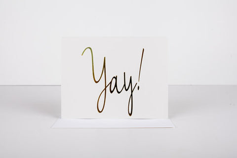 Wrinkle & Crease Paper Products - Yay Greeting Card