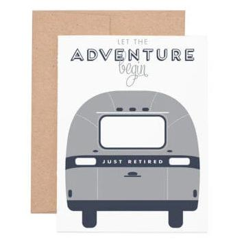 let the adventure begin  Retirement Card