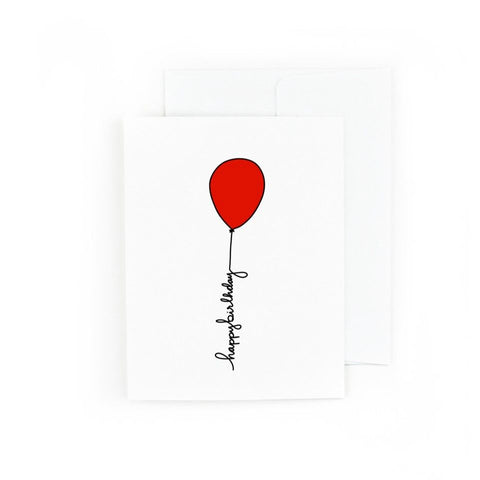 Pretty Peacock Paperie - Red Balloon