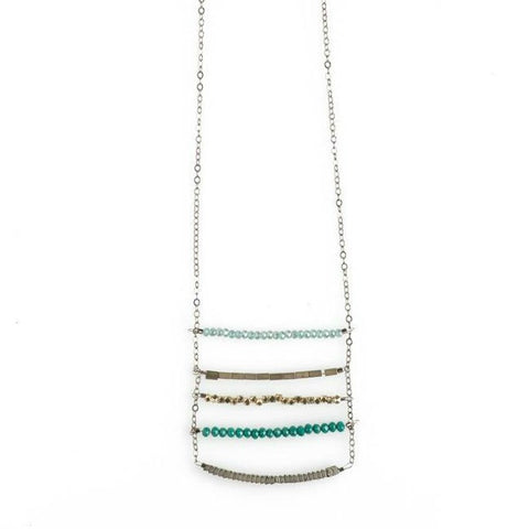 5-Layered India Blue Necklace