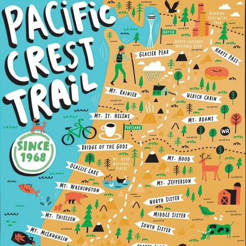 Pacific Crest Trail Puzzle - 750 Pieces